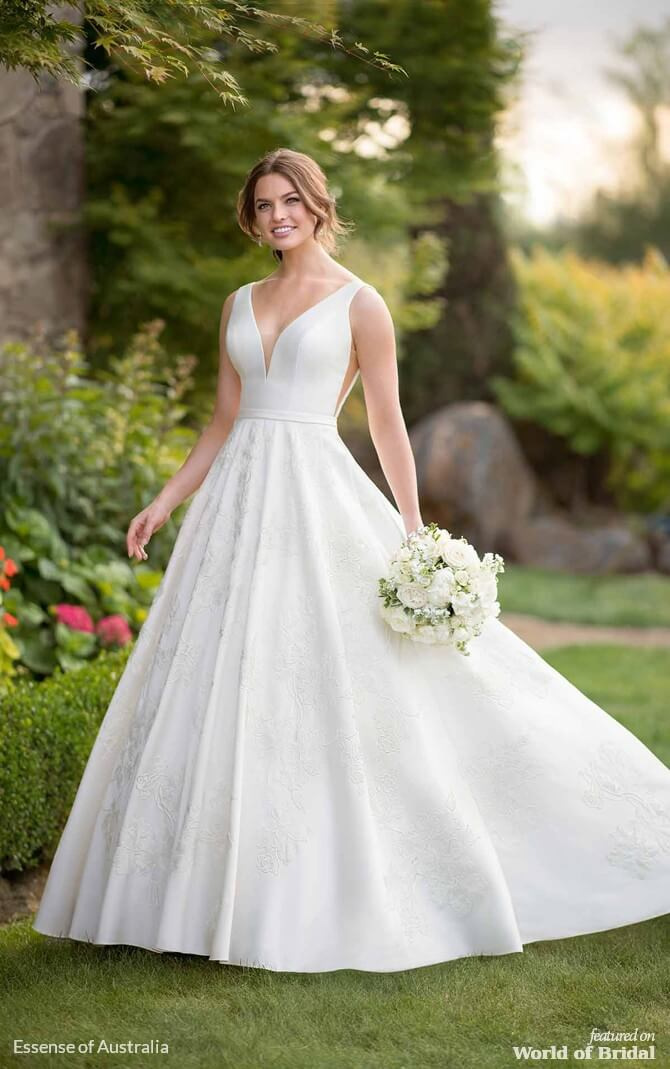0d1f62e1c520d Essense of Australia Spring 2019 Classic Ballgown Wedding Dress with Lace  Detailing