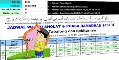 Aplikasi Jadwal Sholat Dan Puasa Ramadhan Sistem Pakar Excel Otomatis