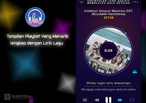 Tampilan Playlist Langit Musik