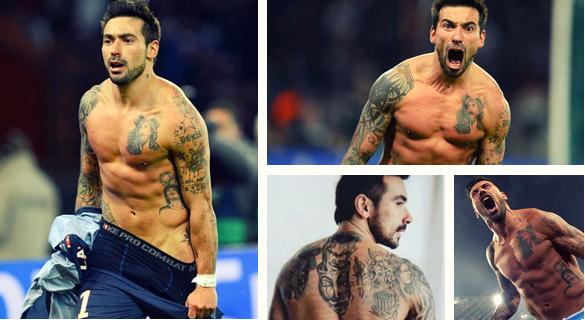 Ezequiel Lavezzi tattoo