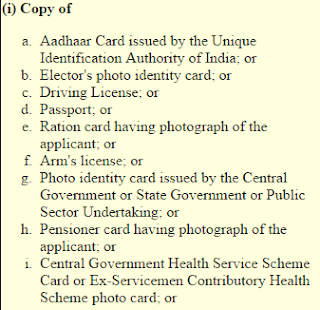 Step 6: PAN Card Correction Online proof of identity