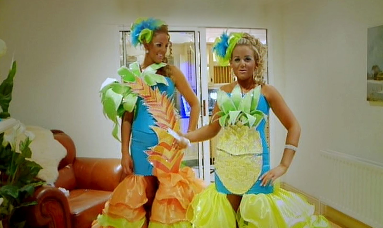 Palm Tree Bride And Friend For Bachelorette Party