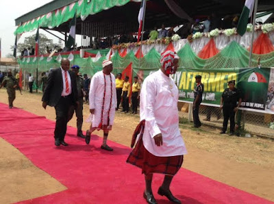 fayose in igbo costume in Abia state