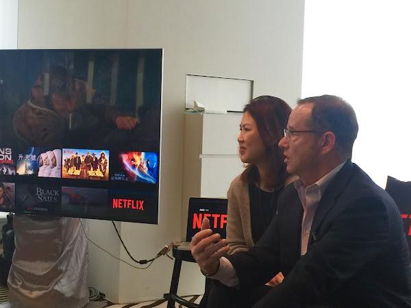 Netflix溝通長喬納森‧弗里德蘭(Jonathan Friedland)與亞洲區企業溝通總監李慧玲(Jessica Lee)