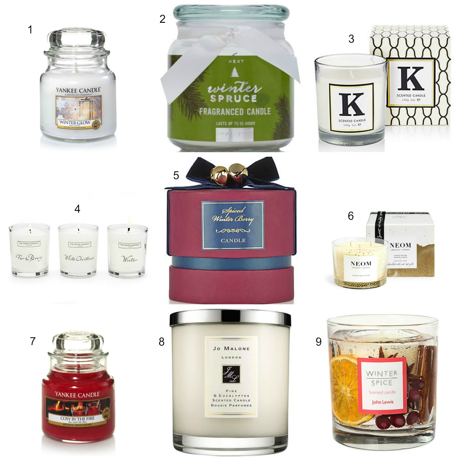 Christmas candles giftguide