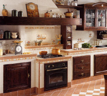 Ceramica che passione mattonelle dipinte per lo stile rustico della cucina - Mattonelle per cucina rustica ...
