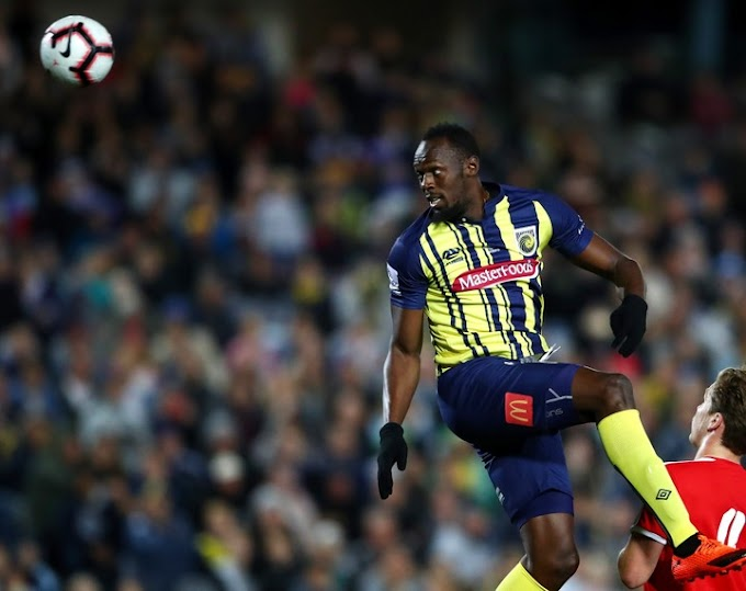Usain Bolt finally makes professional football debut (Photos)