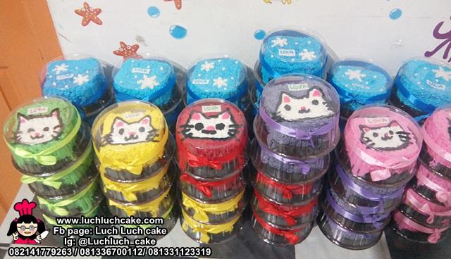 Mini Cake Souvenir Ulang Tahun Tema Kucing