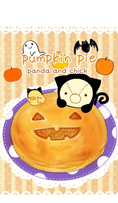 Pumpkin pie panda and chick