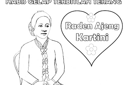 Gambar Mewarnai Kartini