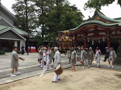 八坂神社神輿発輿祭(平成27年7月18日)