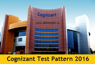 Cognizant Test Pattern 2016