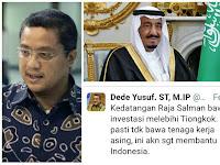 Dede Yusuf: Raja Arab ke Indonesia, Bawa Kebaikkan Lebih daripada Cina