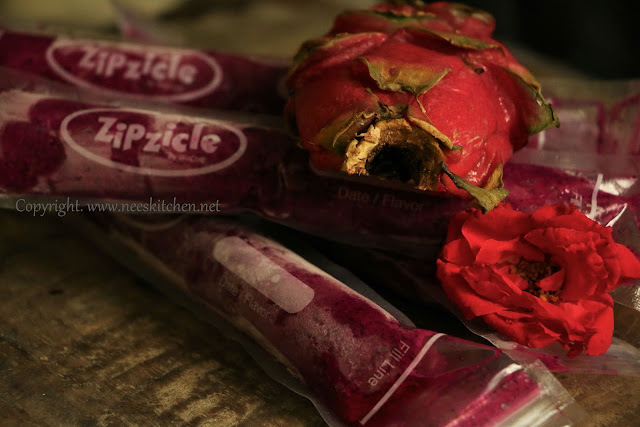 Dragon Fruit Rose Popsicle