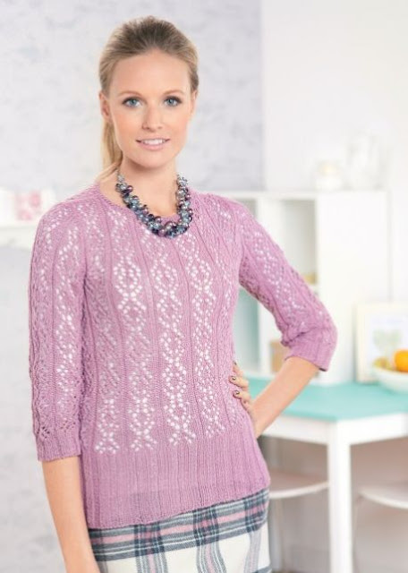 The Vintage Pattern Files: Free 1930s Style Knitting Pattern - Sweet Eve Vintage Style Lace Jumper