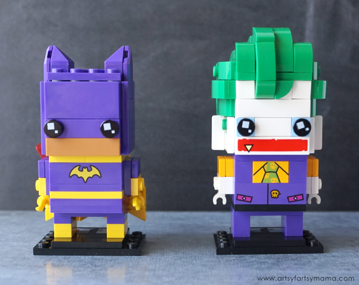 Build Batgirl and The Joker BrickHeadz characters from The LEGO Batman Movie!