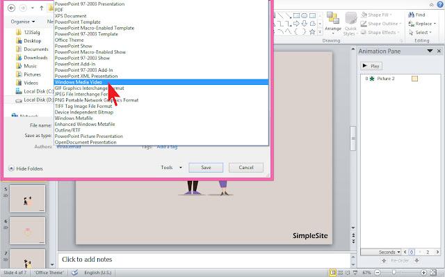 PowerPoint exportera och spara som