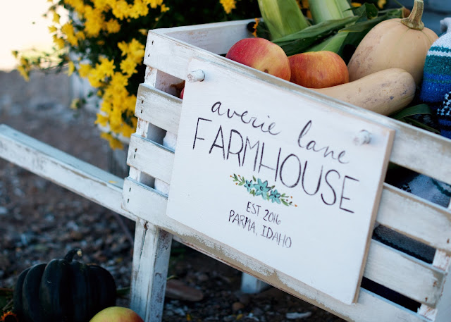 Rustic Wheelbarrow with interchangeable signs #DIHworkshop Virtual Party Averie Lane Farmhouse