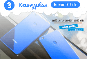 3 Keunggulan Honor 9 Lite yang berbeda dari yang lain