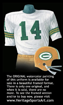 Green Bay Packers 1967 uniform