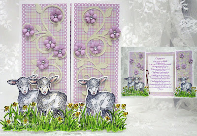 Our Daily Bread Designs Stamp Sets: The Shepherd, Psalm 23 Script, Our Daily Bread Designs Paper Collections: Pastel Paper Pack 2016, Our daily Bread Designs Custom Dies: Little Lamb, Fancy Foliage, Bitty Blossoms