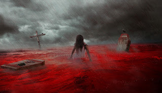 the whole ocean in blood