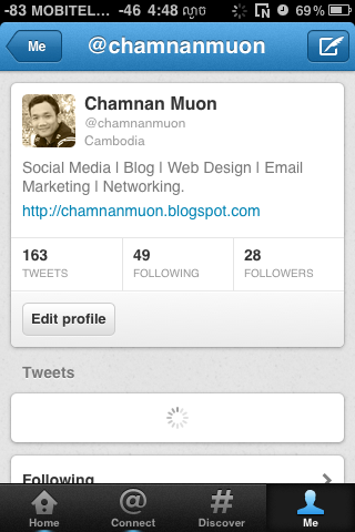 Twitter shows its new profile - ChamnanMuon.com