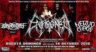 Enthroned, Purgatory & Nervo Chaos en Bogota
