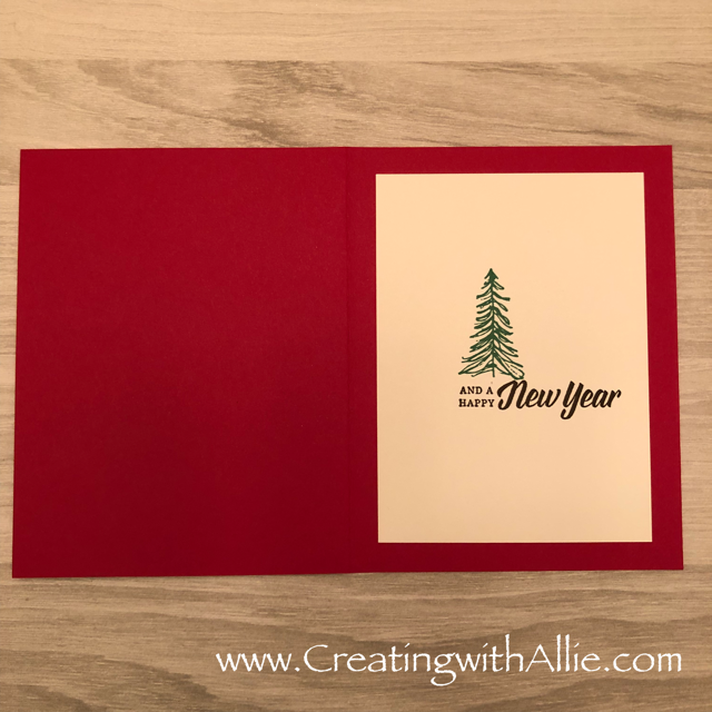 Check out the video tutorial showing you how to make a Christmas card very easy!! You'll love how quick and easy this is to make!  www.creatingwithallie.com #stampinup #alejandragomez #creatingwithallie #videotutorial #cardmaking #papercrafts #handmadegreetingcards #fun #creativity #makeacard #sendacard #stampingisfun #sharewhatyoulove #handmadecards #friendshipcards