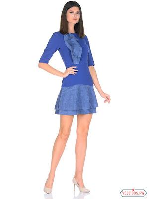 vestidos color azul modernos