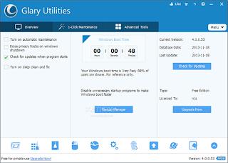 تحميل برنامج صيانة الويندوز Glary Utilities 4 مجانا