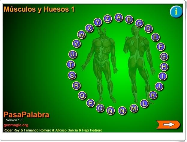 """Pasapalabra """"MÚSCULOS Y HUESOS 1"""" (Juego de Ciencias Naturales de Primaria)"""