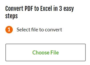 PDF Converter - Select a file