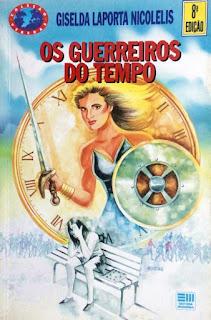 Os guerreiros do tempo. Giselda Laporta Nicolelis. Editora Moderna. Coleção Veredas. Jesus Dias. Capa de Livro. Bookcover. 1994.
