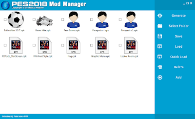 PES 2018 Mod Manager
