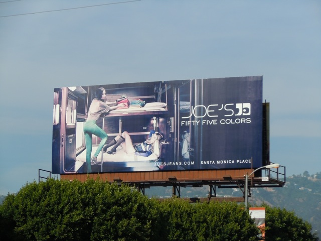 Joe's Jeans Fifty-five colours billboard