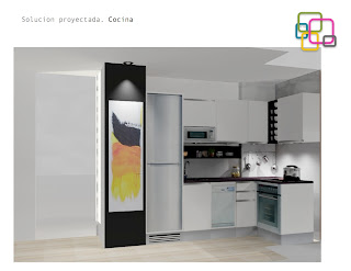 Proyectos soluciones para una cocina peque a decorar tu for Proyecto cocina pequena
