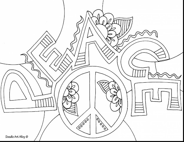 Outstanding Adult Peace Coloring Page With Peace Coloring Pages And Peace  Coloring Pages