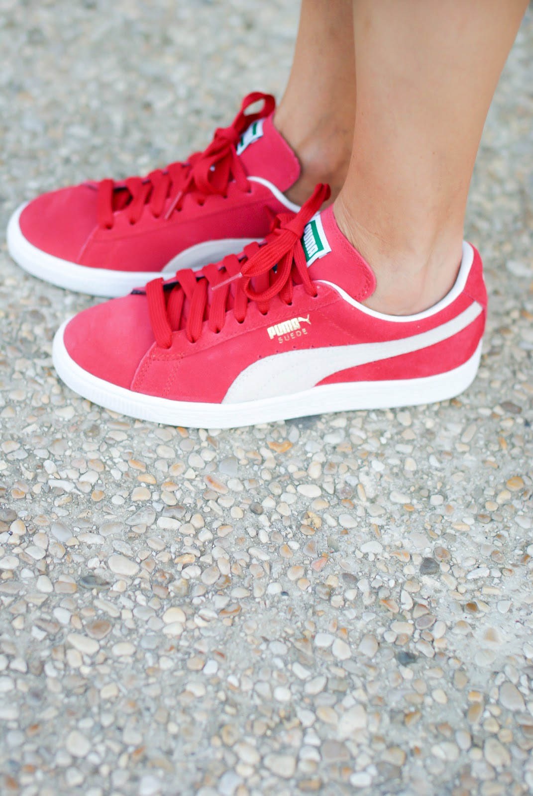 Theh Get Down Shaolin Fantastic's Puma suede classic red sneakers on Fashion and Cookies fashion blog, fashion blogger style
