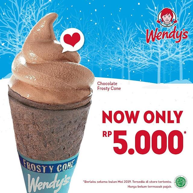 #Wendys - #Promo Chocolate Frosty Cone Hanya 5K (s.d 31 Mei 2019)
