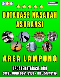 Jual Database Nasabah Asuransi Lampung