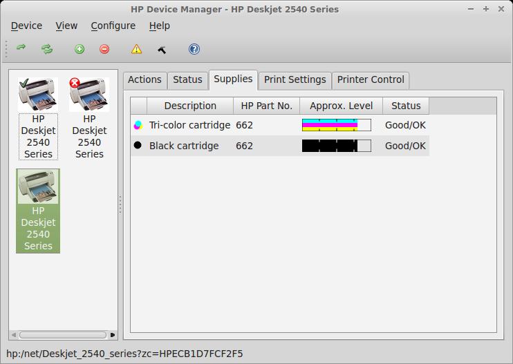 Meu Mundo Tux: Instalação da multifuncional HP Deskjet ink