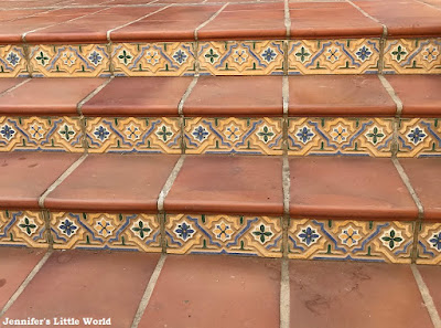 Pretty tiles on steps in Tenerife