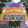 Bunga Papan Wedding Drs Andi Basril