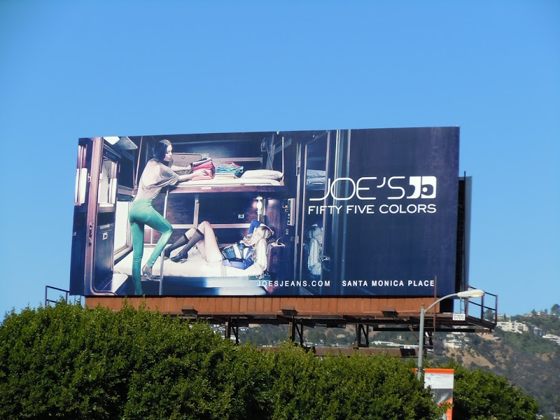 Joe's Jeans fifty five colors billboard