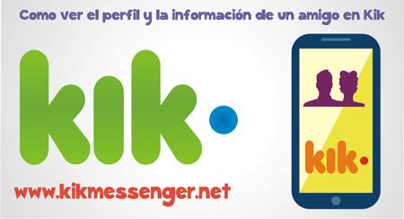 Como ver el perfil y la información de un amigo en Kik