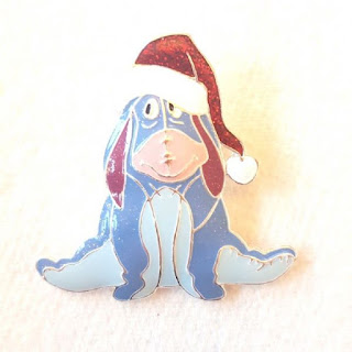 Eeyore Christmas brooch by Disney