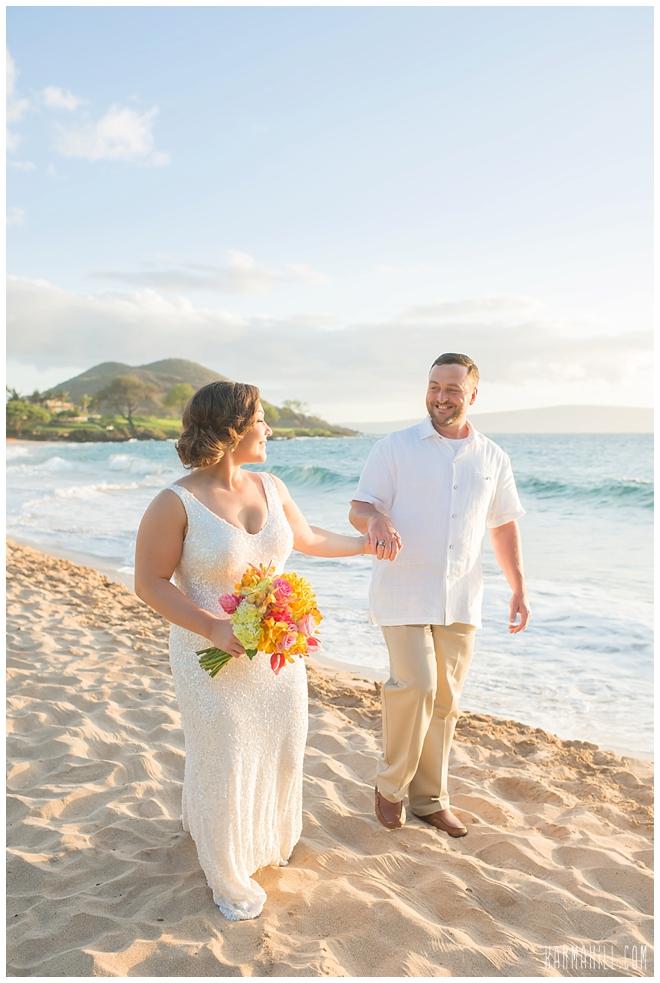 a romantic maui beach wedding
