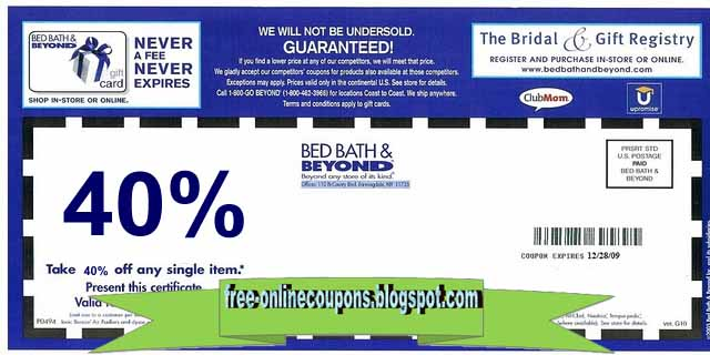 Bed bath and beyond printable coupons february 2018