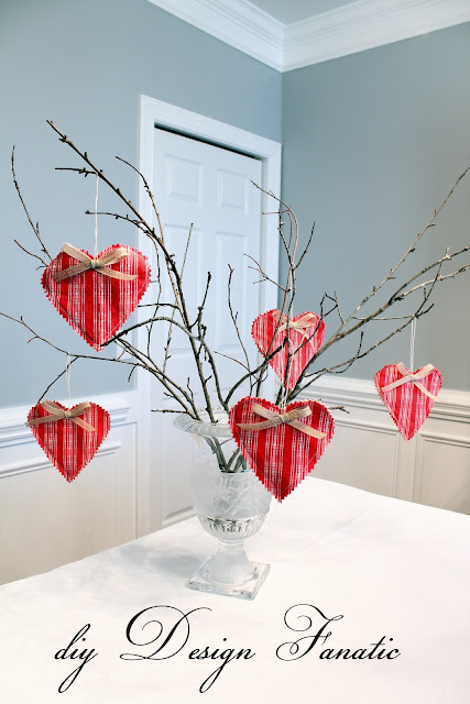 Valentine's Day, Valentine's hearts, fabric hearts, Vintage Valentine hearts, cottage, cottage style, farmhouse, farmhouse style, diyDesignFanatic.com, sewing project